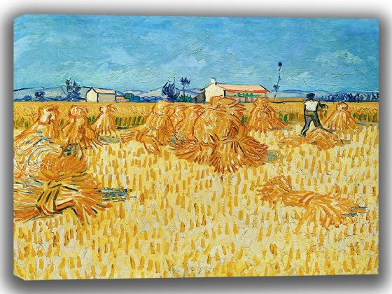 Van Gogh, Vincent: Harvest in Provence. Fine Art Canvas. Sizes: A4/A3/A2/A1 (003913)